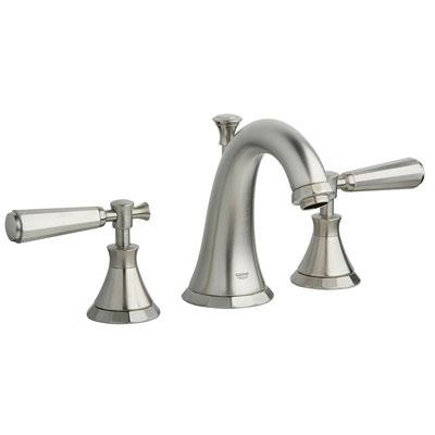 Grohe 20124 EN0 Kensington Three Hole Bath Faucet - Brushed Nickel ...