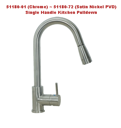 Huntington Brass 51180 Single Handle Kitchen Pulldown Faucet| Kitchen Sink  Faucets | Bathroom Sink Faucets | Tub And Shower Faucets