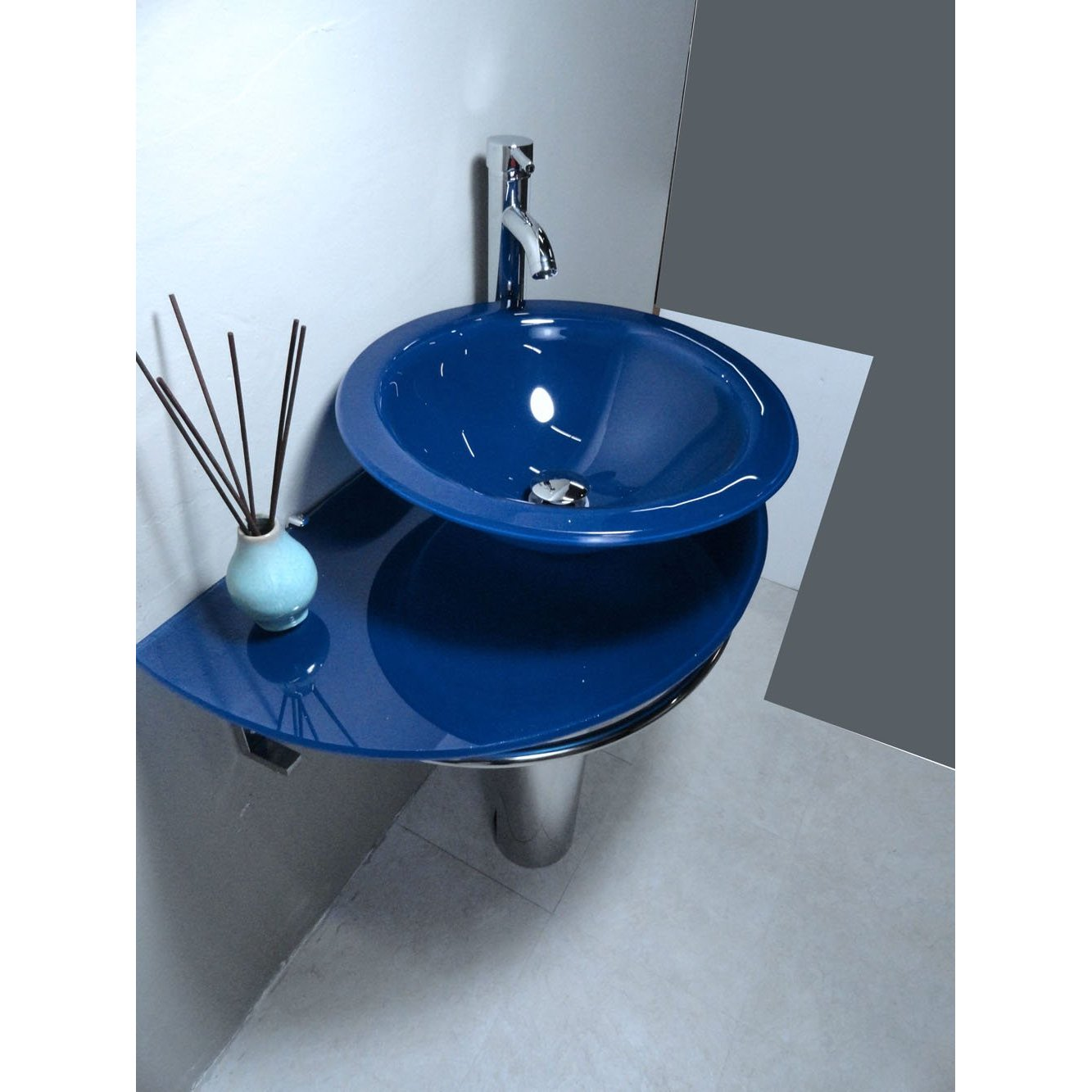 blue bathroom fixtures bathroom vanities pedestal glass blue sink combo with 12122