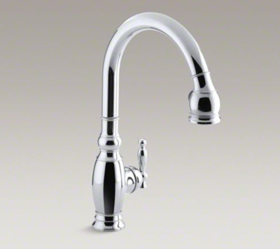 Kohler K 690 Cp Vinnata Pull Down 16 5 8 Spout And Lever Handle Kitchen Faucet Polished Chrome Kitchen Sink Faucets Bathroom Sink Faucets Tub And Shower Faucets