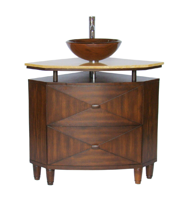 Verdana Corner Vessel Sink Vanity