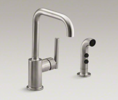 Kohler K-7511-VS Purist Two Hole Kitchen Sink Faucet with 6\