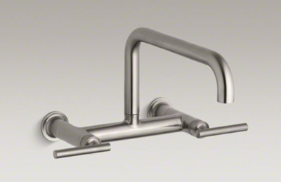 Kohler K 7549 4 Vs Purist Two Hole Wall Mount Bridge Kitchen Sink
