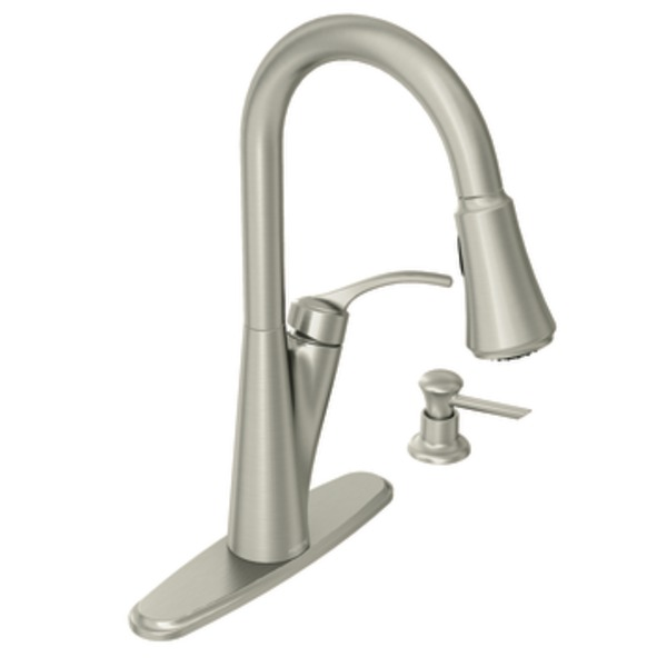 Moen Russo Spot Resist Stainless One Handle HIgh Arc Pulldown Kitchen Faucet|  Kitchen Sink Faucets | Bathroom Sink Faucets | Tub And Shower Faucets