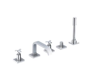 Grohe 25083 Allure 5 Hole Roman Tub Bathtub Faucet Chrome Kitchen Sink Faucets Bathroom And Shower