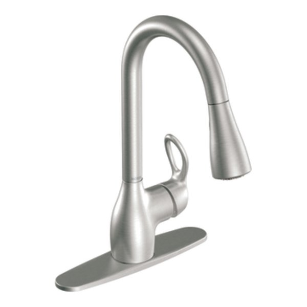Moen Kleo Spot Resist Stainless One Handle High Arc Pulldown Kitchen Faucet Ca87011srs