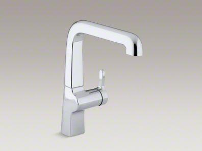 Kohler Evoke Single Hole Kitchen Sink Faucet With 9 Spout K 6333