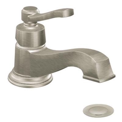 Moen Rothbury Brushed Nickel One Handle Low Arc Bathroom Faucet ...