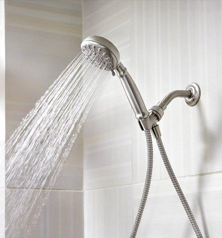 Moen Banbury Shower Faucet.Moen Banbury Spot Resist Brushed Nickel Handheld Shower