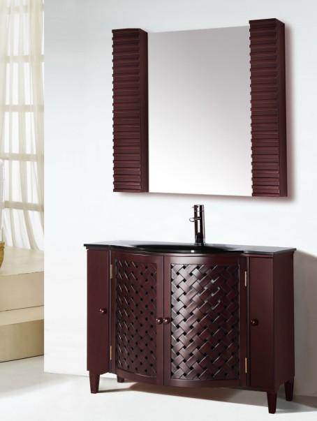 Suneli Italian Elegance Walnut Single Bathroom Vanity 8016