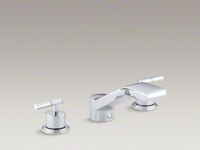 "Kohler Taboret® deck-mount bath faucet trim for high-flow valve with 6"" bullnose non-diverter spout and lever handles, valve not included K-T8238-4"