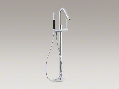 Kohler Stillness® Floor-mount bath filler with handshower K-994-4-CP