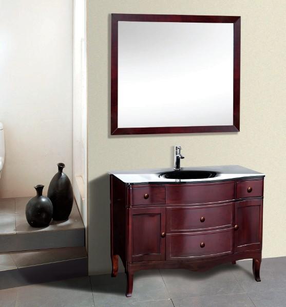 Suneli Certos Series Italian Elegance Walnut Single Bathroom Vanity 8902 - Discontinued