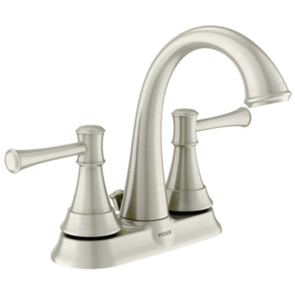 Moen Ashville Microban Two Handle High Arc Bathroom Faucet In Spot Resist Brushed Nickel 84777msrn