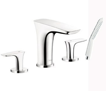 Hansgrohe 15446401 PuraVida Roman Tub Filler Faucet with Diverter - White/Chrome