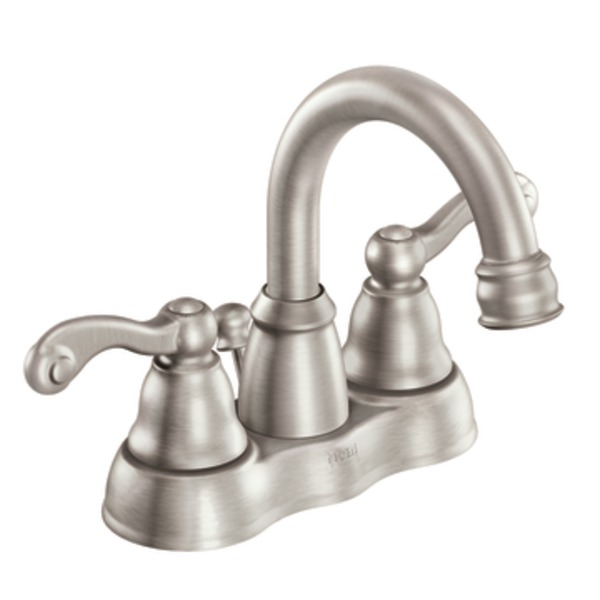 Moen Traditional Two Handle High - Arc Bathroom Faucet in Spot Resist Brushed Nickel 84003SRN
