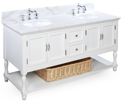 Beverly 60 inch bathroom vanity white white includes a - 60 inch unfinished bathroom vanity ...