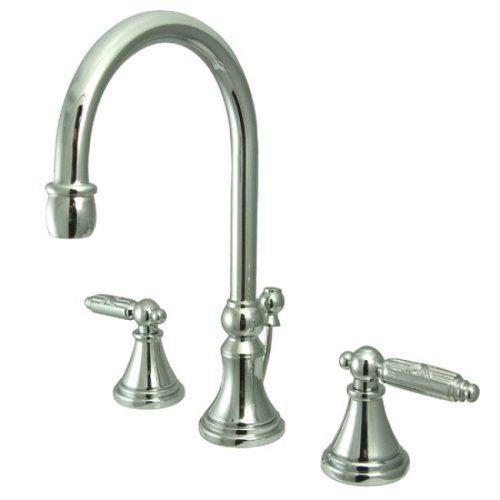 Kingston Brass KS2981GL Georgian Widespread Lavatory Faucet with Brass Pop-Up - Polished Chrome