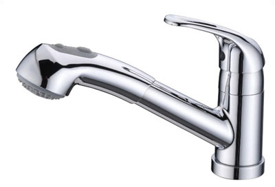 Alpha International 45-577 Chrome Pull Out Spray Kitchen Faucet