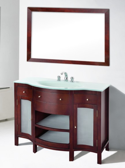 """Suneli Umberto Series Italian Elegance Walnut Single Bathroom Vanity 8421-48"""" - discontinued"""