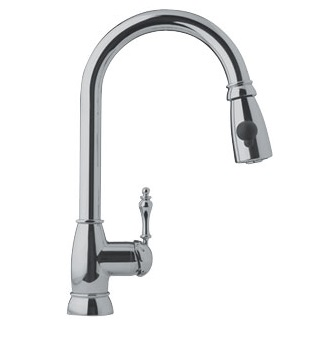 Franke FHPD180 Pull Down Kitchen Faucet Satin Nickel 115.0068.274