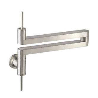 Jado 800/901/144 Contemporary Pot Filler Kitchen Faucet - Brushed Nickel