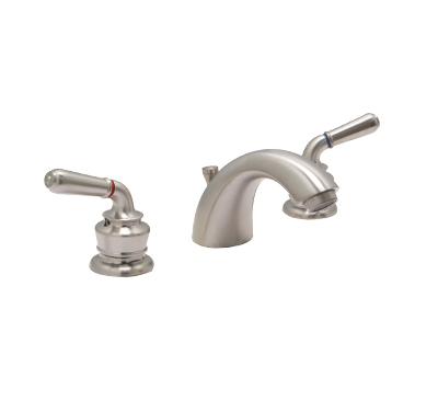 "Huntington Brass 63451 8"" Wide Spread Vanity Faucet Satin Nickel"