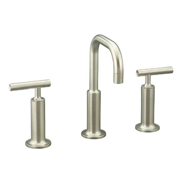 Kohler Purist Widespread K14407-4-BN Lavatory Faucet - Brushed Nickel