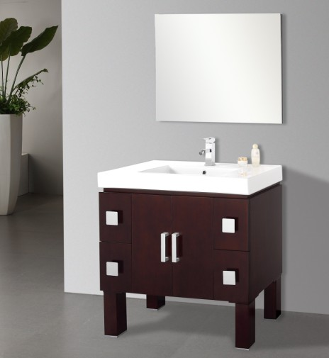 Suneli Gabiano Series Italian Elegance Walnut Single Bathroom Vanity 8809
