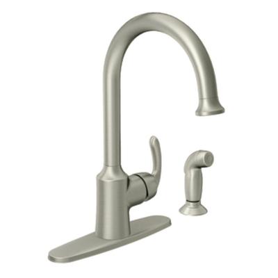 Moen Bayhill Spot Resist Stainless One Handle High Arc Kitchen Faucet - 87301SRS