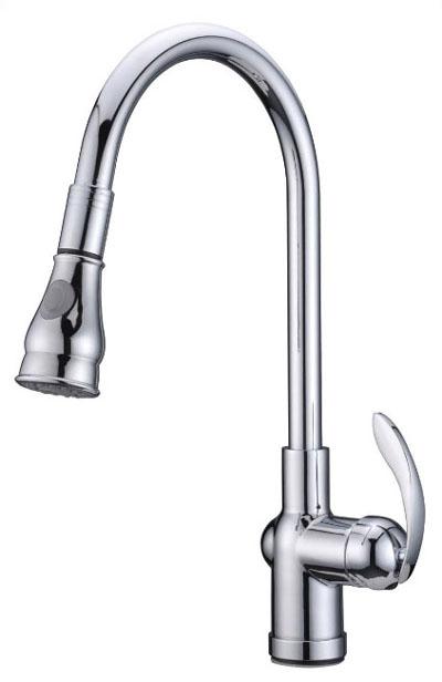 Alpha International 92-599 Chrome Pull Down Spray Kitchen Faucet
