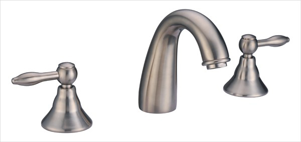 Dawn AB13 1018 3 Hold Widespread Lavatory Faucet with Lever Handles Brushed Nickel