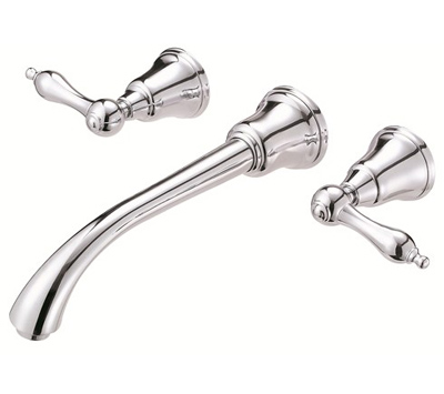 Danze D316240 Fairmont Two Handle Wall Mount Chrome Lavatory Faucet Kitchen Sink Faucets