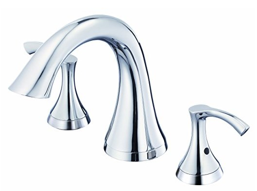 Danze D300922T Antioch Two Handle Roman Tub Trim Kit in Chrome with Rough-in Valve