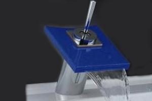 Alfa Chrome and Glass Plate Bathroom Faucet FA0065
