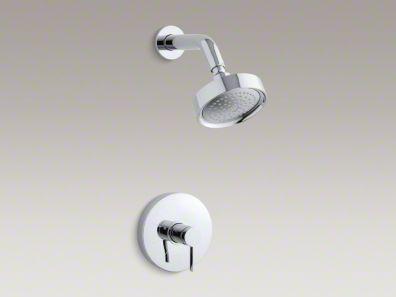 Kohler Stillness® Rite-Temp® pressure-balancing shower faucet trim with lever handle, valve not included  K-T949-4