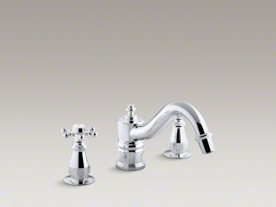 Kohler Antique bath faucet trim for deck-mount high-flow valve with 6-prong handles, valve not included K-T125-3