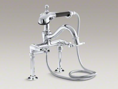 Kohler Antique Floor/wall bath faucet with lever handles and handshower K-110-4