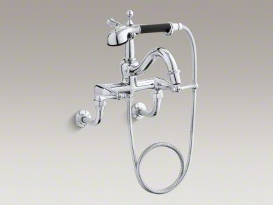 Kohler Revival® bath faucet with diverter spout, traditional lever handles and handshower K-16210-4A