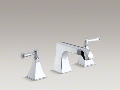 Kohler Memoirs® Stately deck-mount bath faucet trim with non-diverter spout and lever handles, valve not included K-T469-4S