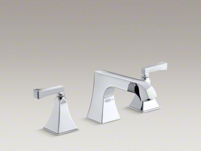 Kohler  Memoirs® Stately deck-mount high-flow bath faucet trim with non-diverter spout and Deco lever handles, valve not included  K-T469-4V