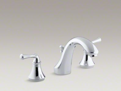 Kohler Forté® Traditional deck-mount bath faucet trim for high-flow valve with diverter spout, valve not included K-T10292-4A