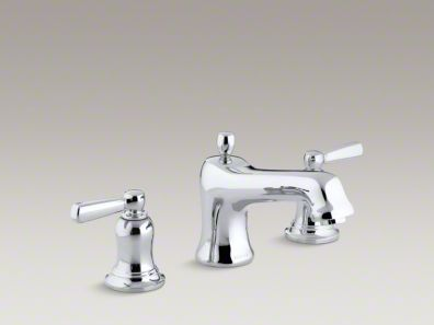 Kohler Bancroft® bath faucet trim for deck-mount valve with diverter spout and metal lever handles, valve not included  K-T10592-4