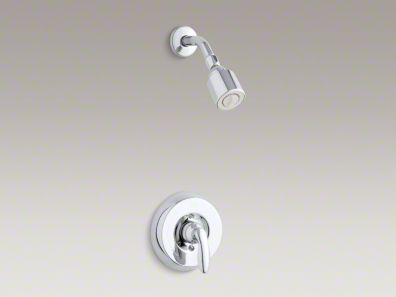 Kohler Coralais® shower trim set with 1.75 gpm showerhead and lever handle for mixing valve K-T15611-4G