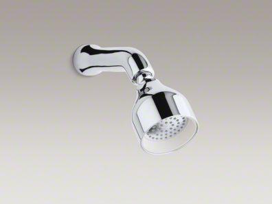 Kohler Toobi™ 2.0 gpm single-function showerhead with Katalyst® spray and arm K-8989