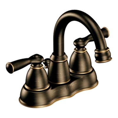 Moen Banbury Mediterranean Bronze Two Handle Low Arc Bathroom Faucet - CA84913BRB