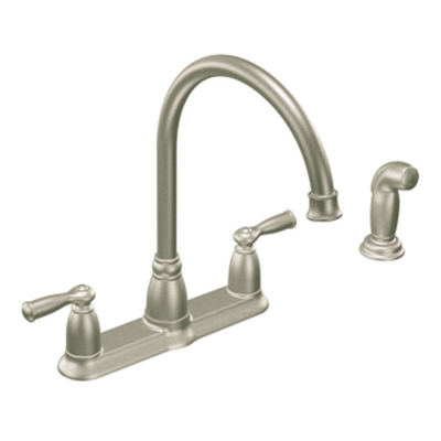 Moen Banbury Spot Resist Stainless Two Handle High Arc