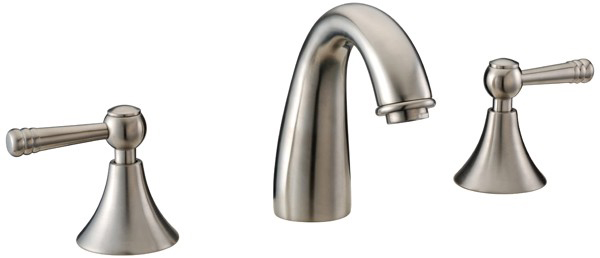 Dawn AB12 1018 3 Hole Widespread Lavatory Faucet with Lever Handles Brushed Nickel