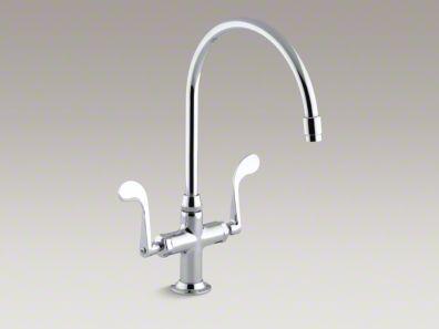 """Kohler Essex® Single-hole kitchen sink faucet with 9"""" gooseneck spout K-8762"""