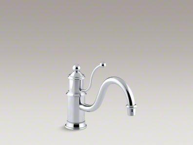 "Kohler Antique Single-hole kitchen sink faucet with 8-7/8"" spout and lever handle K-168"